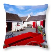 Co Donegal, Ireland Cottage Near Throw Pillow by The Irish Image Collection