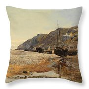 Coastal Scene Throw Pillow by Henry Moore