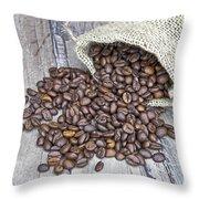 Coffee Beans Throw Pillow by Joana Kruse