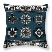 Coffee Flowers Ornate Medallions 6 Piece Collage Mediterranean Throw Pillow by Angelina Vick