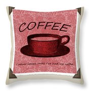 Coffee Flowers Scrapbook Triptych 1  Throw Pillow by Angelina Vick