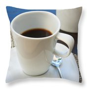 Coffee Sir Throw Pillow by Atiketta Sangasaeng