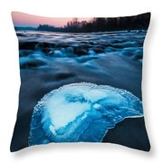 Cold Blue Throw Pillow by Davorin Mance