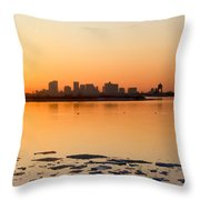 Cold Fire Throw Pillow by Michelle Wiarda