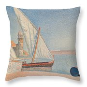 Collioure Les Balancelles Throw Pillow by Paul Signac