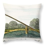Colonial Ducking Stool Throw Pillow by Granger