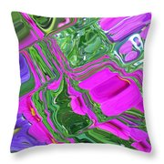 Color Craze Throw Pillow by Aimee L Maher Photography and Art