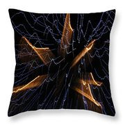 Color Me Electric Throw Pillow by Rhonda Barrett