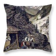 Colorado Silver Mines, 1874 Throw Pillow by Granger