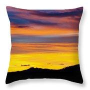 Colorado Sunrise -vertical Throw Pillow by Beth Riser