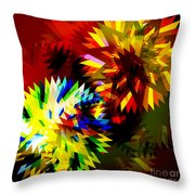 Colorful Blade Throw Pillow by Atiketta Sangasaeng