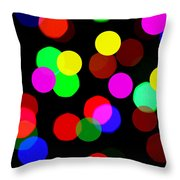 Colorful Bokeh Throw Pillow by Paul Ge