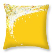 Colorful Curved Throw Pillow by Setsiri Silapasuwanchai