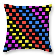Colorful Squares Throw Pillow by Louisa Knight