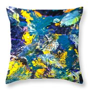 Colorful Tropical Fish Throw Pillow by Elena Elisseeva