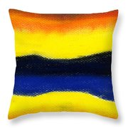 Colours Of Sky Throw Pillow by Hakon Soreide