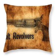 Colt Revolvers Throw Pillow by Cheryl Young