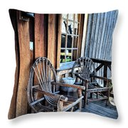 Come And Sit A While Throw Pillow by Sandi OReilly