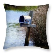 Come Rain Or Shine Or Boat Throw Pillow by Karen Wiles