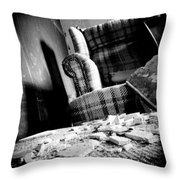 Come Sit For A Spell Throw Pillow by Jessica Brawley