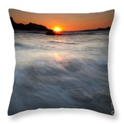 Concealed By The Tides Throw Pillow by Mike  Dawson