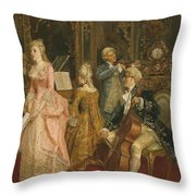 Concert At The Time Of Mozart Throw Pillow by Ettore Simonetti