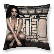 Concrete Velvet 10 Throw Pillow by Donna Blackhall