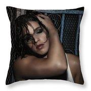 Concrete Velvet 20 Throw Pillow by Donna Blackhall
