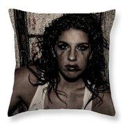 Concrete Velvet 30 Throw Pillow by Donna Blackhall