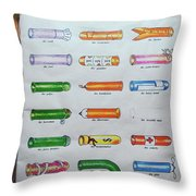 Condom Compendium Sign Thaiiland Throw Pillow by Sally Weigand