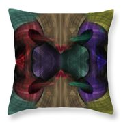 Conjoint - Multicolor Throw Pillow by Christopher Gaston