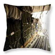 Container Delivery System Bundles Drop Throw Pillow by Stocktrek Images