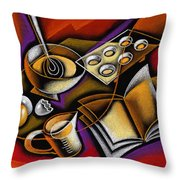 Cooking Throw Pillow by Leon Zernitsky