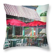 Coopersmith's Pub Throw Pillow by Tom Riggs