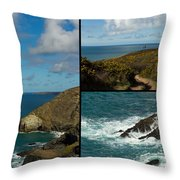 Cornwall North Coast Throw Pillow by Brian Roscorla