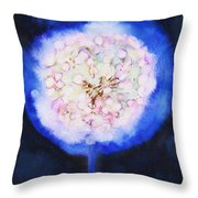 Cosmic Bloom Throw Pillow by Tara Thelen