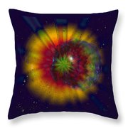 Cosmic Light Throw Pillow by Linda Sannuti
