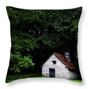 Cottage In The Woods Throw Pillow by Fabrizio Troiani
