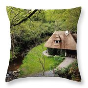 Cottage Ornee Tearoom, Kilfane Glen, Co Throw Pillow by The Irish Image Collection