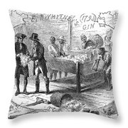 COTTON GIN, 1793 Throw Pillow by Granger