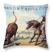 Cotton Thread Trade Card Throw Pillow by Granger