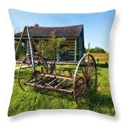 Country Classic Oil Throw Pillow by Steve Harrington