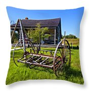 Country Classic paint filter Throw Pillow by Steve Harrington