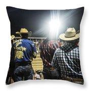 Cowboys At Rodeo Throw Pillow by John Greim