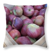 Crate Of Apples Throw Pillow by Kimberly Perry