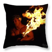 Creating With Fire Throw Pillow by Bob Christopher