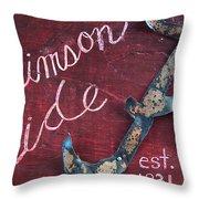 Crimson Tide Throw Pillow by Racquel Morgan