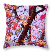 Crisp Autumn Day Throw Pillow by Judi Bagwell