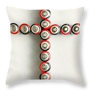 Cross Batteries 1 A Throw Pillow by John Brueske