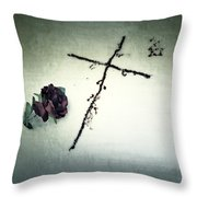 Cross Throw Pillow by Joana Kruse